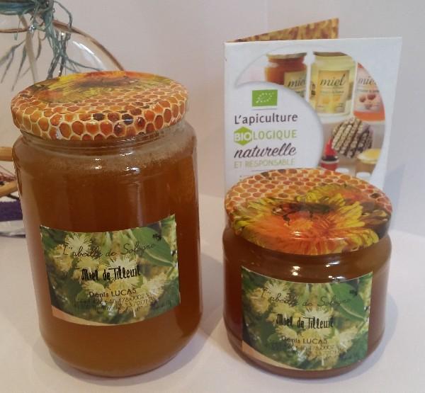 Miel de tilleul, petite production (50 kg), conditionné en pots de verre en 500g et un Kg.